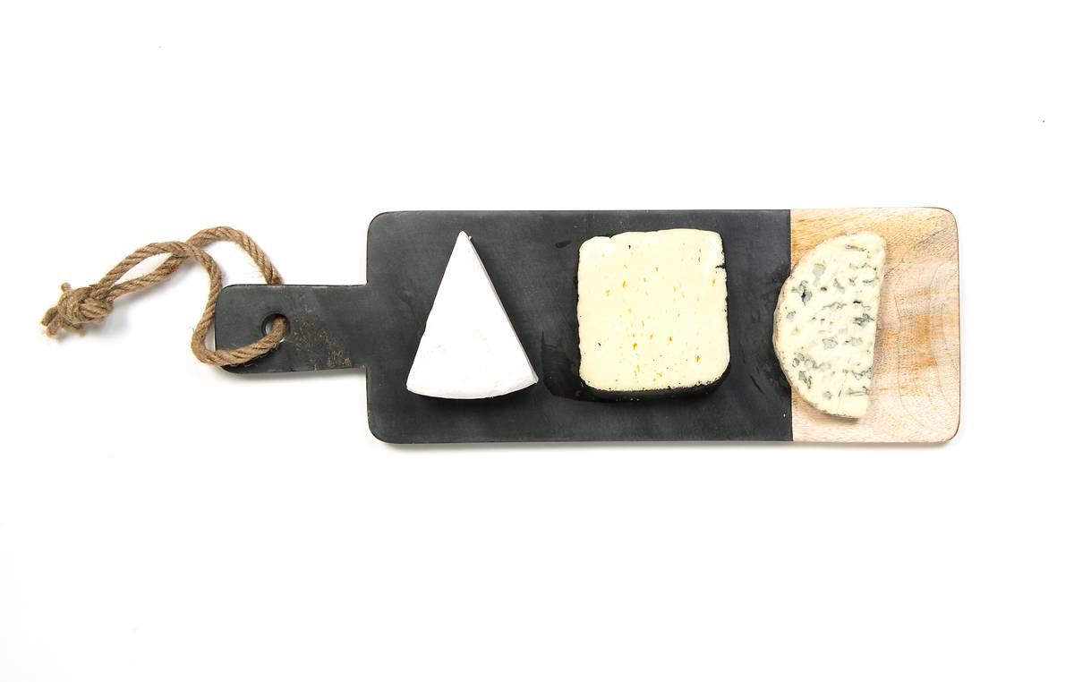 Planche saponite gris bois rectangulaire m oxfam for Planche bois gris