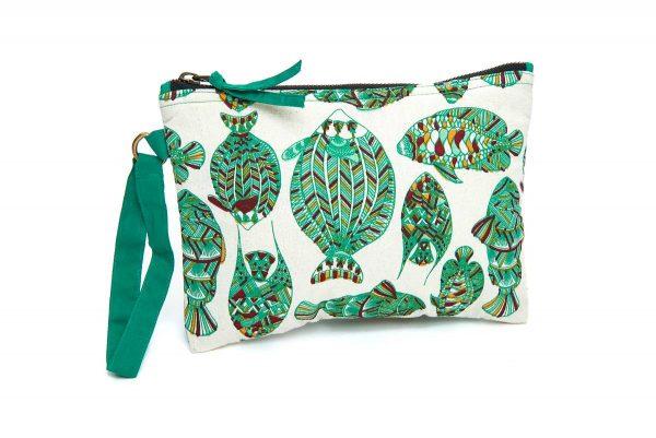 Trousse de toilette coton motif poisson oxfam magasins for Bain vapeur visage maison