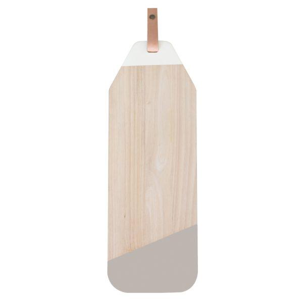 Planche tapas bois h v a cuir gris oxfam magasins du monde for Planche bois gris
