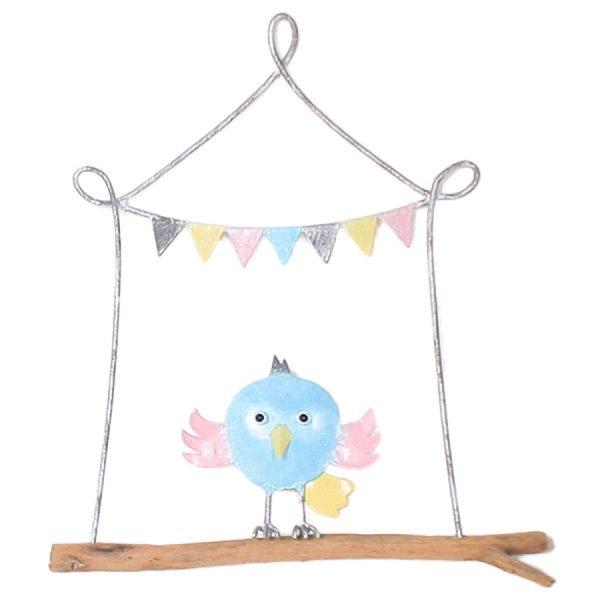 D co murale m tal oiseau bois drapeau oxfam magasins du for Decoration murale oiseau