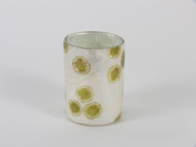 Photophore vase capiz cellule solaire vert mousse oxfam for Vase solaire exterieur